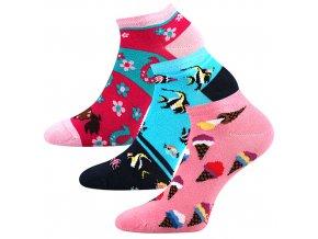 Dětské ponožky 3 kusy v balení Lonka Dedonik mix Holka
