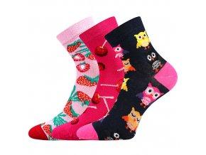 Dětské ponožky 3 kusy v balení Lonka Dedotik mix holka