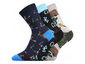 Dětské ponožky 3 kusy v balení VoXX Filip 03 protiskluzové mix A chlapecké