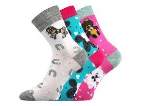 Dětské ponožky 3 kusy v balení VoXX Filip 03 protiskluzové mix B holka