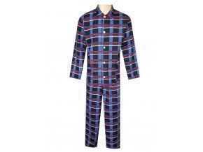 Pánské Pyžamo Flanelové FOLTÝN PF23 modrá kostka