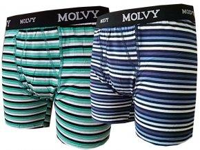 Pánské Boxerky MOLVY 2 kusy v balení KP044BEU