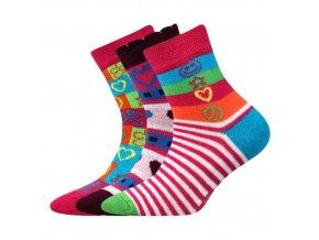 Dětské ponožky 3 kusy v balení Boma Larik mix vzorů B