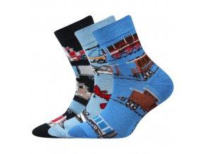 Dětské ponožky 3 kusy v balení Boma Larik mix vzorů A
