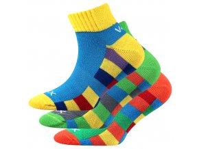 Dětské ponožky 3 kusy v balení VoXX Kvadrik mix vzorů B