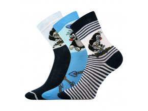 Dětské ponožky 3 kusy v balení Boma Krtek mix B