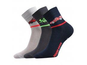 Dětské ponožky 3 kusy v balení Boma Autik mix vzorů D