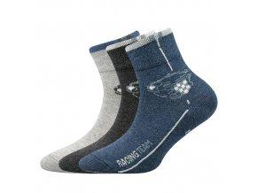 Dětské ponožky 3 kusy v balení Boma Autik mix vzorů C
