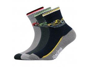 Dětské ponožky 3 kusy v balení Boma Autik mix vzorů B
