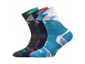 Dětské ponožky 3 kusy v balení VoXX Alkik mix vzorů A kluk