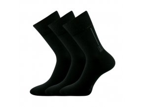 Zdravotní ponožky 3 kusy v balení Lonka Desan černá