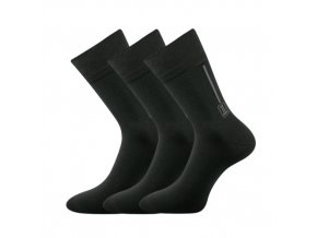 Zdravotní ponožky 3 kusy v balení Lonka Desan tmavě šedá