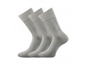 Zdravotní ponožky 3 kusy v balení Lonka Desan světle šedá