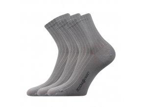 Zdravotní ponožky 3 kusy v balení Lonka Demedik světle šedá