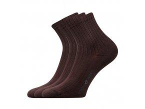 Zdravotní ponožky 3 kusy v balení Lonka Demedik hnědá