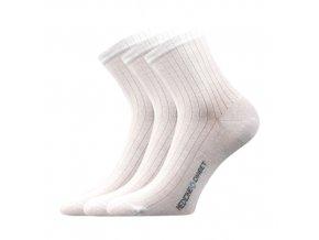 Zdravotní ponožky 3 kusy v balení Lonka Demedik bílá