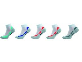 Bambusové ponožky 5 kusů v balení Novia Bambus 262 FB Sport bílá