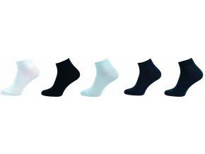 Bambusové ponožky 5 kusů v balení Novia Bambus 212 NC