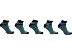 Bambusové ponožky 5 kusů v balení Novia Bambus 212 NA
