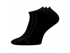 Bambusové ponožky 3 kusy v balení Lonka Debi černá