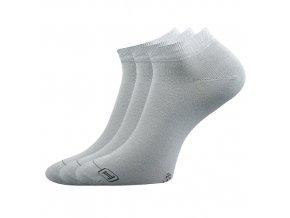 Bambusové ponožky 3 kusy v balení Lonka Debi světle šedá