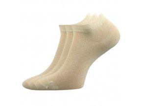 Bambusové ponožky 3 kusy v balení Lonka Debi béžová