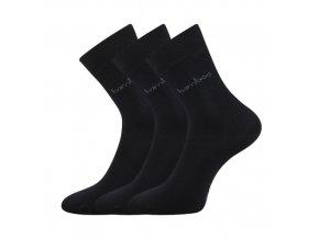 Bambusové ponožky 3 kusy v balení Lonka Debambas černá