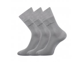 Bambusové ponožky 3 kusy v balení Lonka Debambas světle šedá