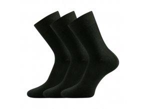 Bambusové ponožky 3 kusy v balení Lonka Badon černá