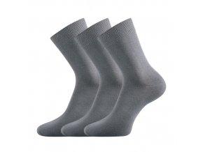 Bambusové ponožky 3 kusy v balení Lonka Badon šedá