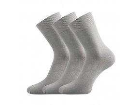 Bambusové ponožky 3 kusy v balení Lonka Badon světle šedá