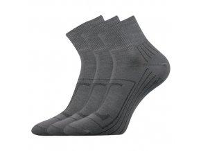 Bambusové ponožky 3 kusy v balení Lonka Raban tmavě šedá