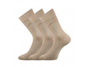 Zdravotní ponožky 3 kusy v balení Lonka Dakota béžová