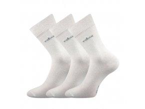 Zdravotní ponožky 3 kusy v balení Lonka Dakota bílá