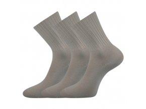Zdravotní ponožky 3 kusy v balení VoXX Diarten světle šedá