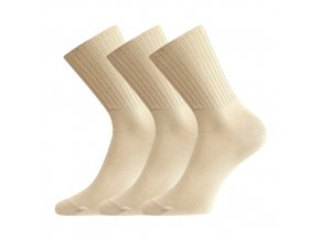 Zdravotní ponožky 3 kusy v balení VoXX Diarten béžová