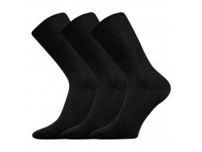 Zdravotní ponožky 3 kusy v balení VoXX Zdravan černá