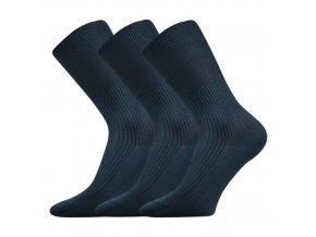 Zdravotní ponožky 3 kusy v balení VoXX Zdravan tmavě modrá