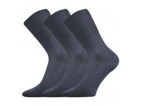 Zdravotní ponožky 3 kusy v balení VoXX Zdravan tmavě šedá