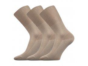 Zdravotní ponožky 3 kusy v balení VoXX Zdravan béžová