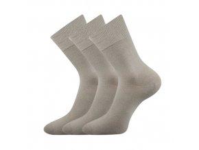 Zdravotní ponožky 3 kusy v balení VoXX Eduard světle šedá