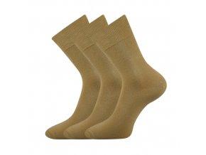 Zdravotní ponožky 3 kusy v balení VoXX Eduard béžová