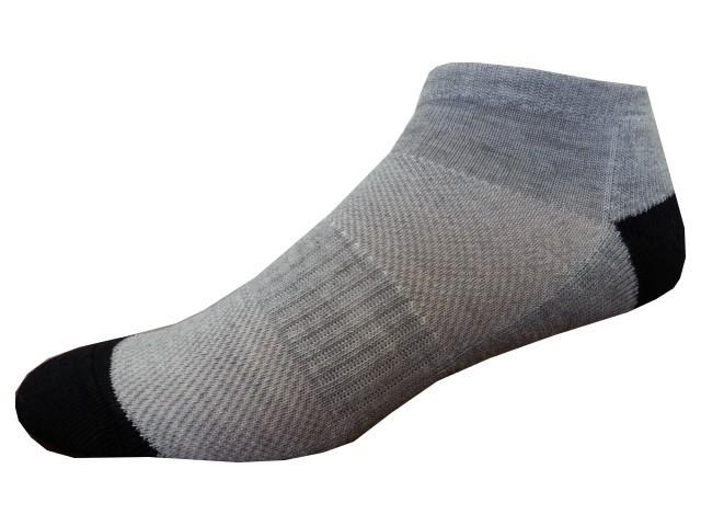 Sportovní Ponožky NOVIA Sport Collection Poloplyš šedočerná Velikost: 38-40