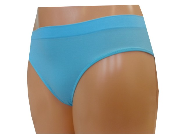 Dámské Bezešvé Kalhotky Novia Bikini Azurová Velikost: XL