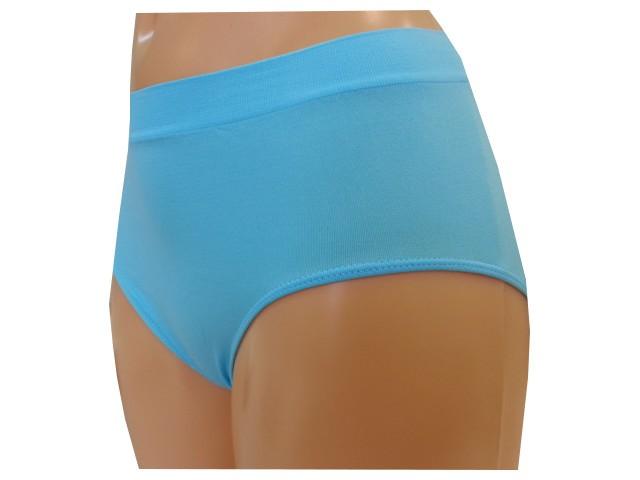 Dámské Bezešvé Kalhotky Novia Clasic Azurová Velikost: XL