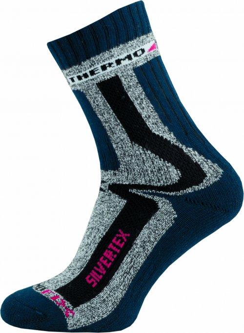 Sportovní Ponožky NOVIA Silvertex Thermo 02 tamvě modré Velikost: 40-41