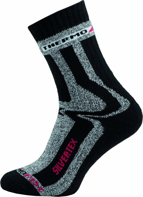 Sportovní Ponožky NOVIA Silvertex Thermo černé Velikost: 44-45