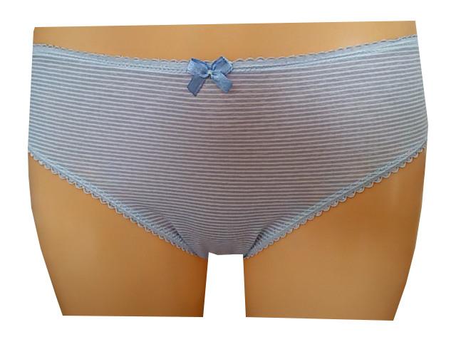 Dámské kalhotky MOLVY MD-793-KEU modrý proužek Velikost: L