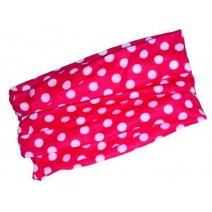 Multifunkční šátek Novia 01 červený bílý puntík