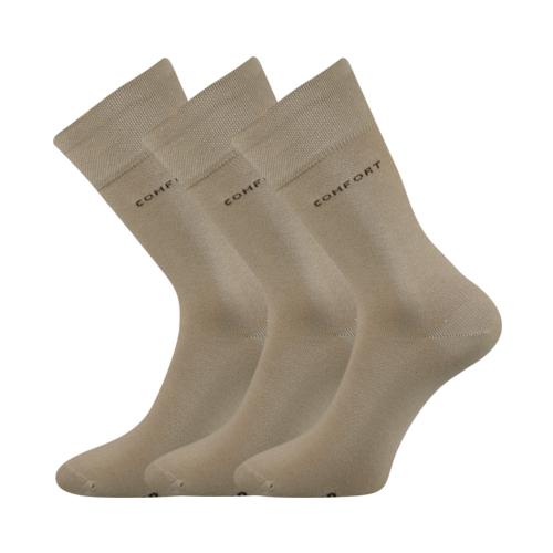 Společenské ponožky 3 kusy v balení Lonka Comfort béžová Velikost: 39-42